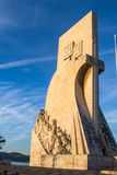 Monument to the Discoveries (Padrão dos Descobrimentos). In Lisbon, Portugal royalty free stock photography