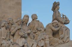 Monument to the Discoveries, Padrão dos Descobrimentos, Lisbon. Lisbon, Portugal, the monument to the Discoveries celebrates the Portuguese Age of Discovery ( royalty free stock image