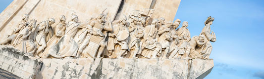 Monument to the discoveries Panorama lisbon Royalty Free Stock Photography