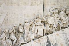 Monument to the Discoveries in Portugal. Stock Photo