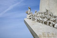 Monument to the Discoveries in Portugal. Stock Images