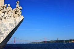 Monument to the discoveries and pradao view Stock Image
