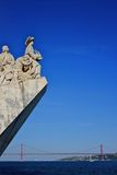 Monument to the discoveries and pradao view Royalty Free Stock Photography