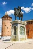 Monument to Dmitri Donskoy in the Kolomna.  Royalty Free Stock Photo