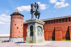 Monument to Dmitri Donskoy in Kolomna, Russia.  Royalty Free Stock Photography
