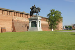The monument to Dmitry Donskoy in Kolomna Royalty Free Stock Photo