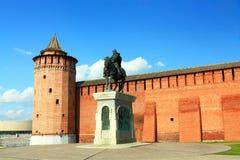 Monument to Dmitry Donskoy in Kolomna Royalty Free Stock Photo