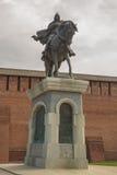 The monument to Dmitry Donskoy. Kolomna, Kremlin Stock Photos