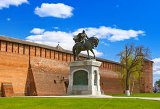 The monument to Dmitry Donskoy in Kolomna Kremlin in Moscow regi Royalty Free Stock Image