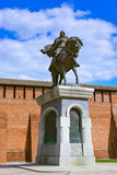 The monument to Dmitry Donskoy in Kolomna Kremlin in Moscow regi Royalty Free Stock Photos