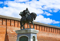 The monument to Dmitry Donskoy in Kolomna Kremlin in Moscow regi Royalty Free Stock Images