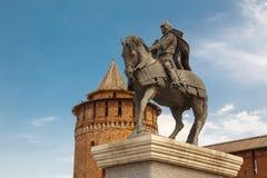 The monument to Dmitry Donskoy. And marinkina tower, Kolomna, Kremlinn Stock Photos