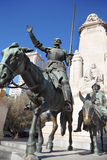 Monument to Don Quixote and Sancho Panza at spring sunny day Royalty Free Stock Images