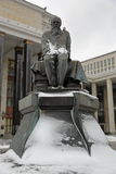 Monument to Dostoevsky in Moscow, Russia Stock Image