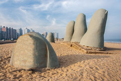 Monument to the Drowned Punta del Este. The Monument to the Drowned in Punta del Este, Uruguay Stock Photos