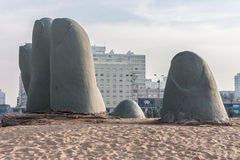 Monument to the Drowned Punta del Este Royalty Free Stock Images