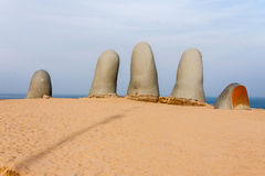 Monument to the Drowned Punta del Este Royalty Free Stock Photography
