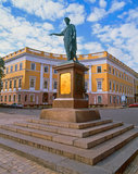 Monument to Duke de Richelieu in Odessa Royalty Free Stock Images