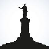 Monument to Duke de Richelieu. Odessa, Ukraine. Vector sketch Royalty Free Stock Photo