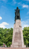 Monument to Duke Gediminas in Cathedral Square. Vilnius Stock Images
