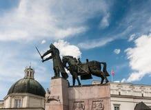 Monument to Duke Gediminas. Vilnius Stock Photo