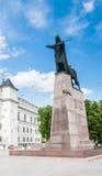 Monument to Duke Gediminas. Vilnius, Stock Image