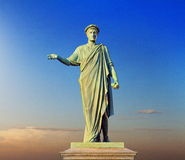 Monument to the Duke Richelieu in Odessa Ukraine Royalty Free Stock Photo