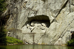 The monument to the dying lion of Lucerne. Stock Photography