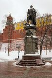 Monument to Emperor Alexander I of the walls of the Moscow Kreml Royalty Free Stock Photography