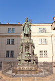 Monument (1848) to Emperor Charles IV in Prague Stock Photo