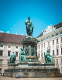 Monument to Emperor Franz I in Swiss Court. Vienna, Austria. Swiss Court in Vienna, Austria Royalty Free Stock Photography