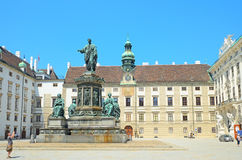 Monument to emperor Franz II in Vienna, Austria. Royalty Free Stock Images
