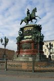Monument to Emperor Nicholas I Royalty Free Stock Images