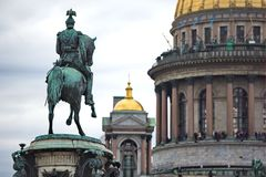 Monument to Emperor Nicholas I, St. Petersburg, Russia Royalty Free Stock Photography
