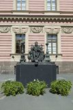 Monument to Emperor Paul I in the courtyard of St. Michael`s Castle in St. Petersburg. St. Petersburg, Russia - August 08, 2018: Monument to Emperor Paul I in stock photo