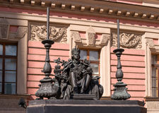Monument to Emperor Paul I, installed in the courtyard of St. Michael's Castle. Saint-Petersburg, Russia Royalty Free Stock Images