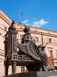 Monument to Emperor Paul I, installed in the courtyard of St. Michael's Castle. Saint-Petersburg, Russia Royalty Free Stock Photo