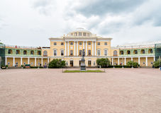 Monument to Emperor Paul I on the square of Pavlovsk Palace. Saint Petersburg, Russia royalty free stock photo