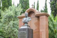 Monument to the emperor tzar Nikolai Romanov. In Sochi Royalty Free Stock Photo