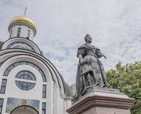 Monument to Empress Elizabeth. Rostov-on-Don, Russia -August 14,2016:Monument to Empress Elizabeth next to the Old Protection Church . Sculptors: S.Oleshnya, A royalty free stock photography