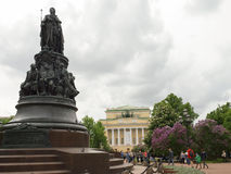 Monument to the Empress of the Russian Empire Catherine II Stock Images