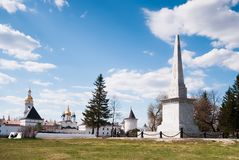 Monument to Ermak in Tobolsk Stock Photo