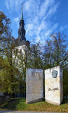 Monument to Estonian writer Eduard Vilde, Tallinn Stock Photography