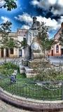 Monument to Eusebi Güell. Photo taken at the Eusebi Güell Monument in Sant Boi de Llobregat Spain royalty free stock image