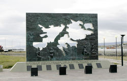 Monument to Falkland islands or Islas Malvinas Stock Photo