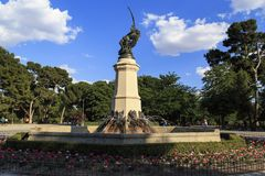 Monument to the Fallen Angel, Madrid royalty free stock photos