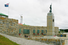 Monument to fallen British soldiers in Falklands Stock Image