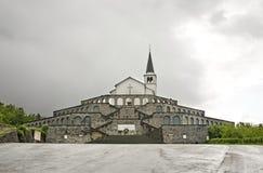 Monument to fallen Italian soldiers above Caporetto in Kobarid. Slovenia.  Stock Image
