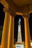 Monument to the fallen people in Africa in the Galicia Square Royalty Free Stock Photos