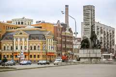 Monument to fallen sailors in Kiev city. Royalty Free Stock Image